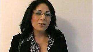 Amateur school teacher filthy talks her way through a real nasty POV BJ