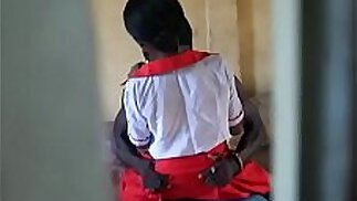 Caught on camera Amatures having sex during school hour