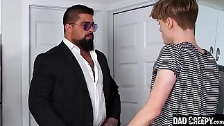 Daddy Teaches His Step Son A Lesson About Fooling Around With Strangers Adrian Hill, Ryan Bones