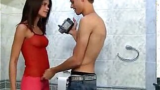Little Caprice caught pissing fucks on camera right in the toilet room