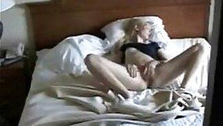 Cute mom masturbating caught by nasty son. Hidden cam