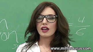 MILF fucks her students