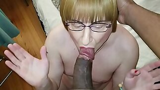 Lucky Cuckold sissy gets a another session with my ten inches ...