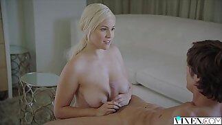 Naughty Blonde milf fucks her sisters man to make her jealous