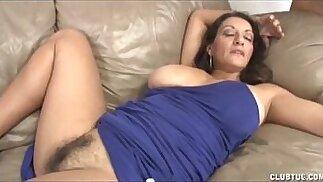 Busty Milf Handjob and Pussy Rubbing