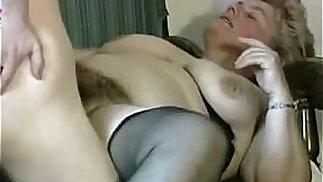 Granny very hairy pussy jizzed