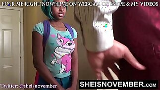 HD Black Student Caught Skipping Class Msnovember StepDad Educates Her On Blowjob And Cumshot For Leaving School, POV StepDaughter Inlaw Head on Sheisnovember
