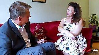 AgedLovE Hot Mature british Lady Seducing Businessman