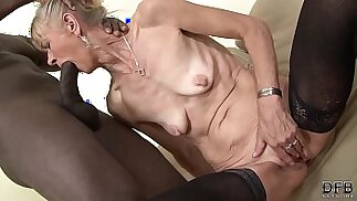 Granny fucked hard in her ass by black guy she gets fucked and creampied