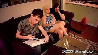 Viagra prank Brother Fucks Step Sisters Kim Stroker and Shelby Paris