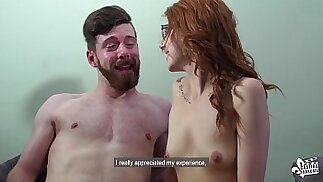 CASTING FRANCAIS Naughty Canadian redhead banged by big hard in audition bang