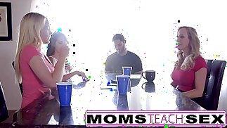MomsTeachSex Hot Mom Teen best Friends Orgy With Neighbor