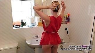 Jodie Ellen Downblouse Sexy Video Lookbook Hot Blonde lesbian Babe