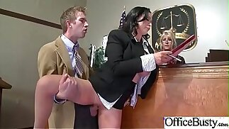 Horny Girl Nikki Benz In Hard doggy Style Banged In Office video 20