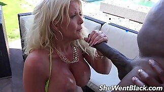 Big Tit MILF gets Anal Fucked by Black Cock by the Pool