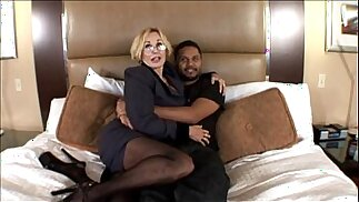 Sexy milf with big boobs taking black cock in Hot Wife Porn music Video